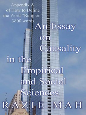 cover image of An Essay on Causality in the Empirical and Social Sciences