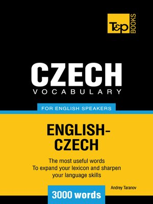 cover image of Czech vocabulary for English speakers