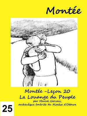 cover image of Montée -Leçon 25 La Montée vers Jérusalem