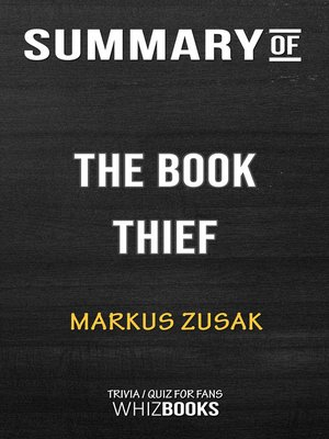 cover image of Summary of the Book Thief by Markus Zusak / Trivia/Quiz for Fans