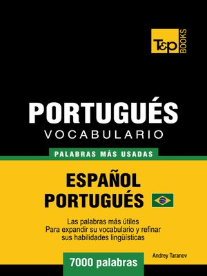 cover image of Vocabulario Español-Portugués Brasilero