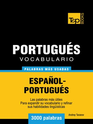 cover image of Vocabulario Español-Portugués