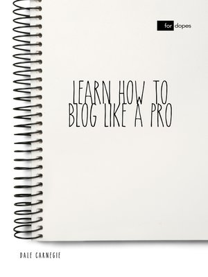 cover image of Learn How to Blog Like a Pro