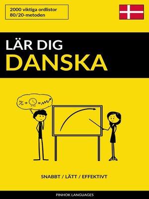 cover image of Lär dig Danska