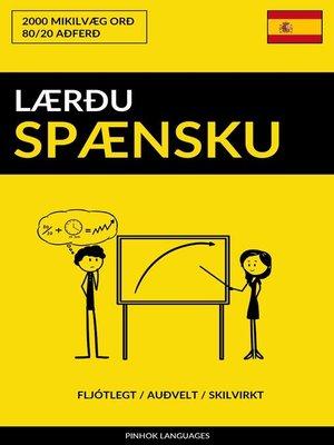 cover image of Lærðu Spænsku