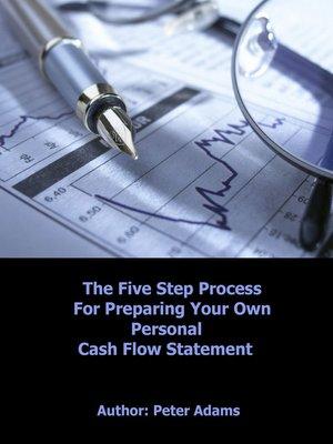 diy personal cash flow statement by peter adams overdrive rakuten