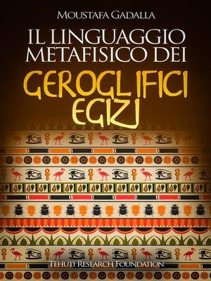 cover image of Il linguaggio metafisico dei geroglifici egizi
