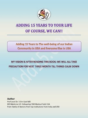 cover image of Hindi E-book Adding 15 Years to the Wellbeing of Our Indian Community In USA and Everyone Else In USA