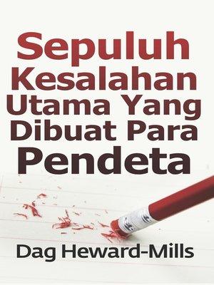 cover image of Sepuluh Kesalahan Utama yang Dibuat Para Pendeta