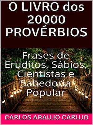cover image of O LIVRO dos 20000 PROVÉRBIOS