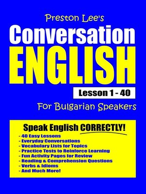 cover image of Preston Lee's Conversation English For Bulgarian Speakers Lesson 1