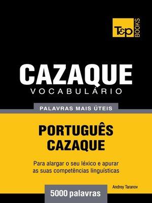 cover image of Vocabulário Português-Cazaque