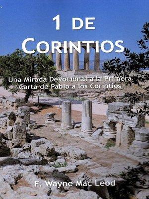 cover image of 1 de Corintios