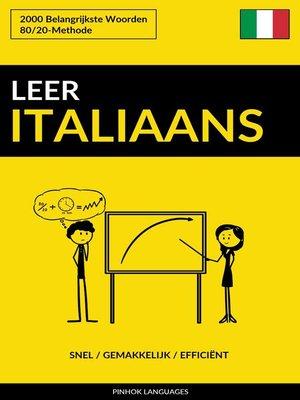 cover image of Leer Italiaans