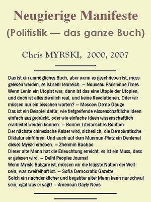 cover image of Neugierige Manifeste (Politistik — das ganze Buch)