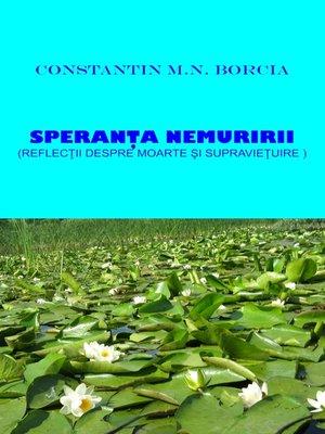 cover image of Speranța nemuririi