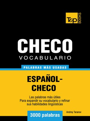 cover image of Vocabulario Español-Checo
