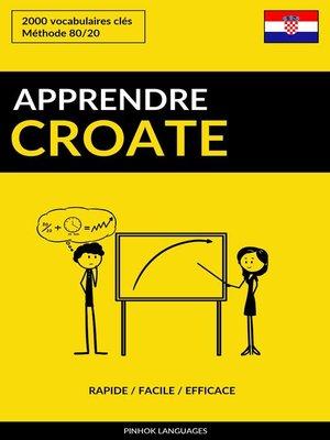 cover image of Apprendre le croate