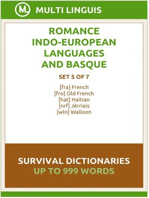 cover image of Romance Languages and Basque Language Survival Dictionaries (Set 5 of 7)