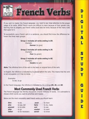 cover image of French Verbs ( Blokehead Easy Study Guide)