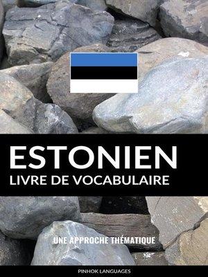 cover image of Livre de vocabulaire estonien