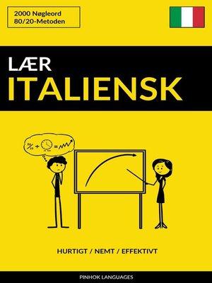 cover image of Lær Italiensk