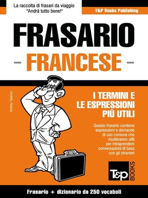 cover image of Frasario Italiano-Francese e mini dizionario da 250 vocaboli