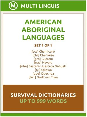 cover image of American Languages Survival Dictionaries (Set 1 of 1)