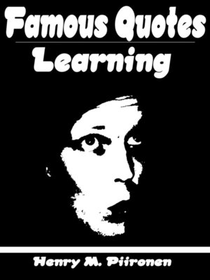 cover image of Famous Quotes on Learning