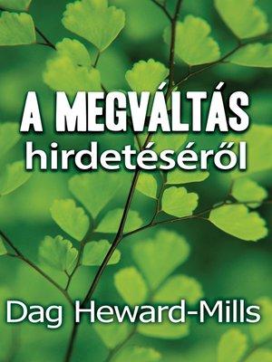 cover image of A megváltás hirdetéséről