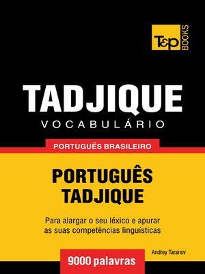 cover image of Vocabulário Português Brasileiro-Tadjique