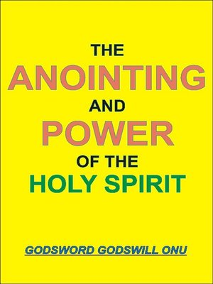 cover image of The Anointing and Power of the Holy Spirit