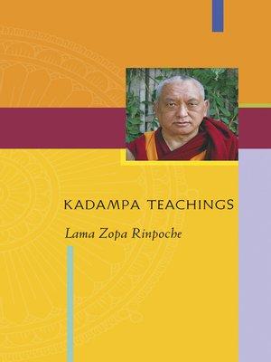 cover image of Kadampa Teachings