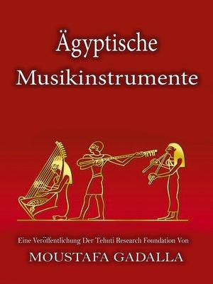 cover image of Ägyptische Musikinstrumente