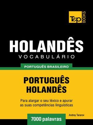cover image of Vocabulário Português Brasileiro-Holandês