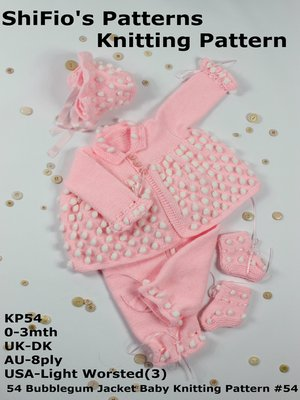 54 Bubblegum Jacket Baby Knitting Pattern 54 By Shifios Patterns