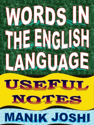 cover image of Words In the English Language