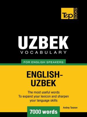 cover image of Uzbek Vocabulary for English Speakers