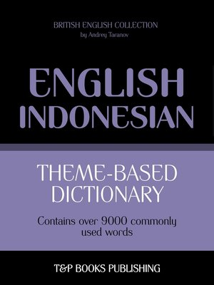 cover image of Theme-based dictionary British English-Indonesian