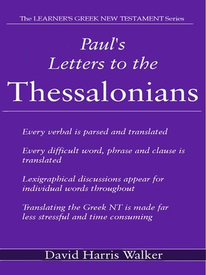 cover image of Paul's Letters to the Thessalonians