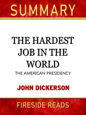 cover image of Summary of the Hardest Job in the World