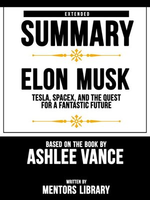 cover image of Extended Summary / Elon Musk