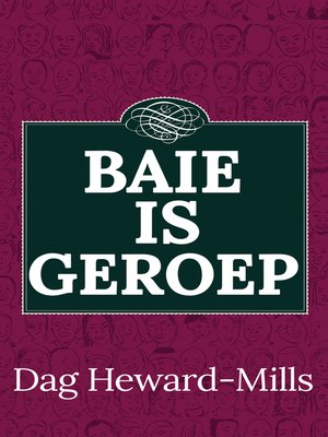 cover image of Baie is Geroep
