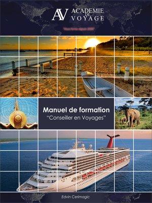 cover image of Manuel de formation Conseiller en Voyages