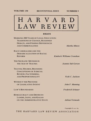 cover image of Harvard Law Review