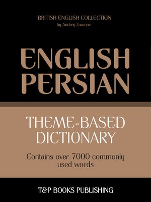 cover image of Theme-based dictionary British English-Persian