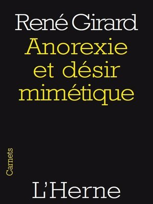 cover image of Anorexie et désir mimétique