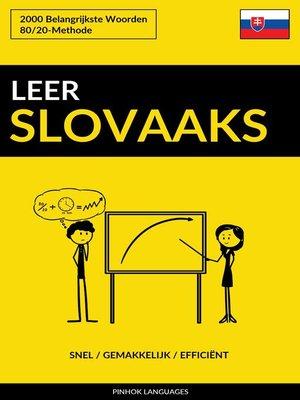 cover image of Leer Slovaaks
