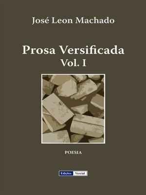 cover image of Prosa Versificada I