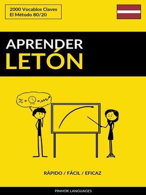 cover image of Aprender Letón